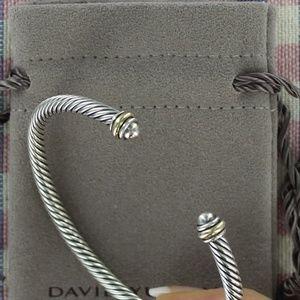 David Yurman Cable Classics Bracelet Cuff w/ Gold
